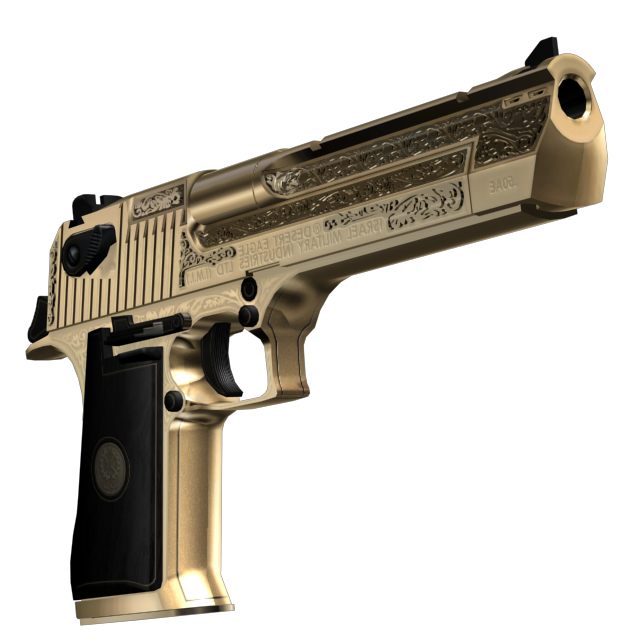 Gold Deagle by Luc1FeR (Handmade Engraving)