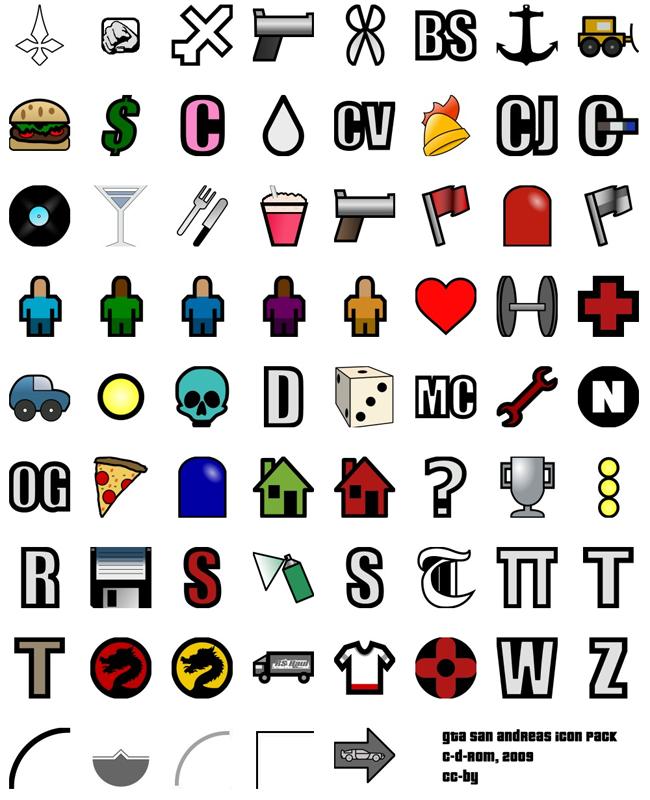 Новые HQ иконки для файла HUD