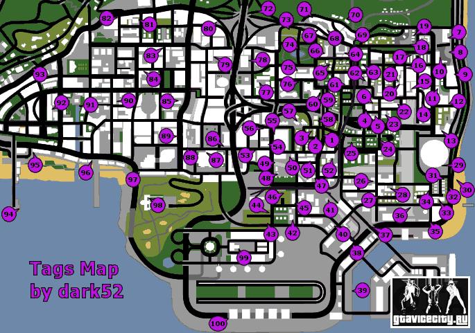 Карта граффити для GTA San Andreas